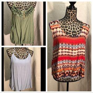 Tops - 3 for 1 Sleeveless Shirt Bundle-Pre❤️'d & NWT
